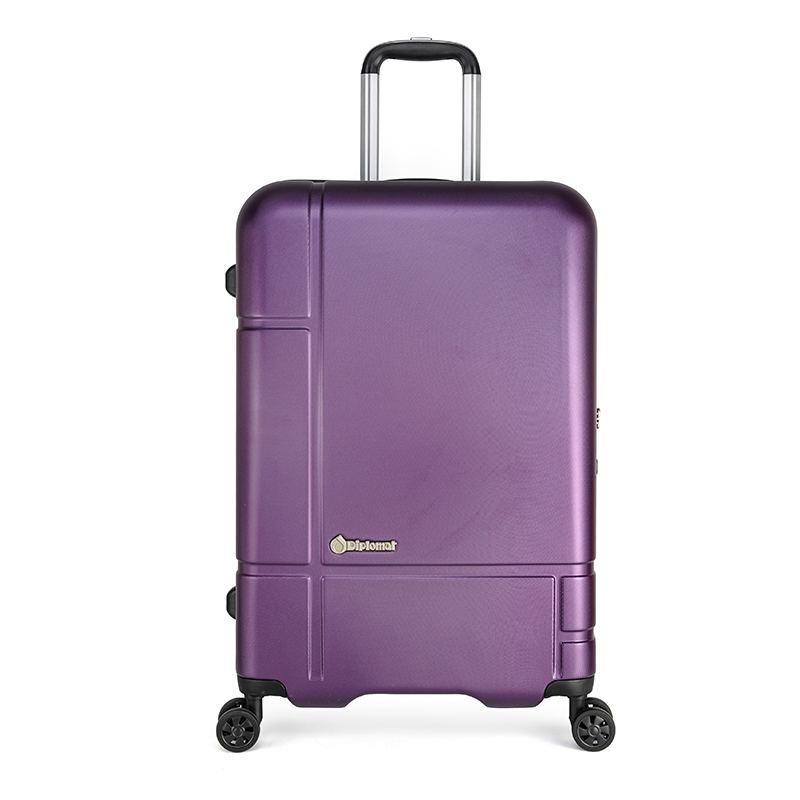 【外交官】Diplomat时尚行李箱万向轮旅行拉杆箱 紫色 26英寸 DS-1276