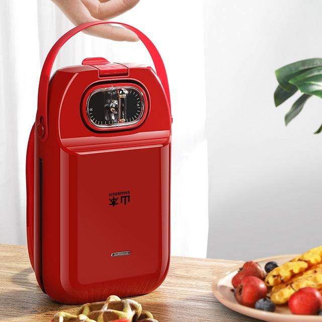 【山本】三明治早餐机家用轻食机烤面包吐司华夫饼多功能三文治压烤机S5008