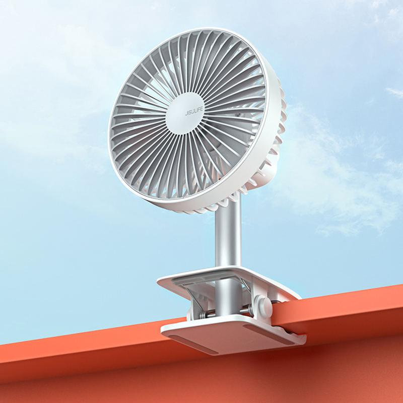 【几素】usb小风扇迷你学生宿舍夹式可充电小型电扇便携式静音F7B