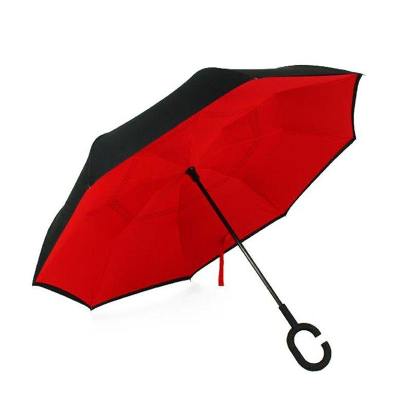 【爱车屋】 反向伞男女自动超大雨伞双人长柄晴雨两用伞折叠直柄商务伞汽车雨伞 I-3071