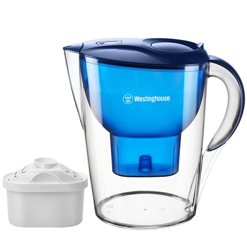 【西屋】(Westinghouse) 过滤净水器 家用滤水壶 净水壶 3.5L宝蓝色(1个滤芯装)WT-B02