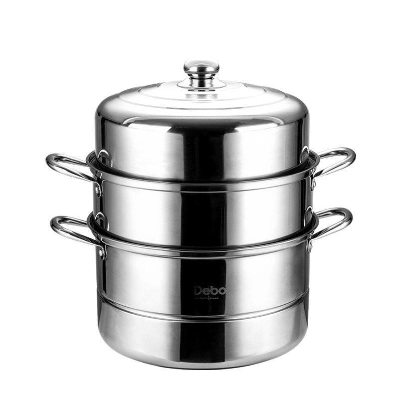 【德铂】Debo 博恩蒸锅不锈钢三层汤蒸两用锅34cm DEP-321