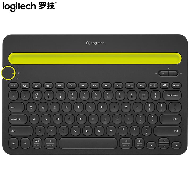 【罗技】Logitech女性便携超薄无线蓝牙办公笔记本键盘  K480