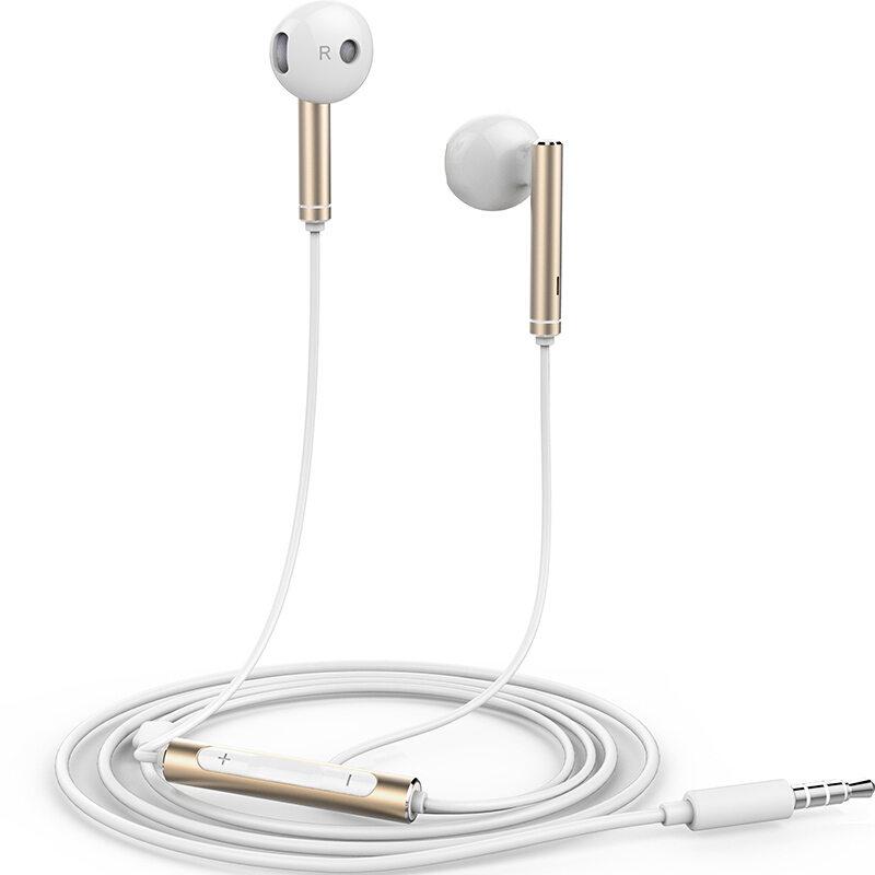 【华为】(HUAWEI) 三键线控 带麦克风 半入耳式耳机 手机耳机 白色 金属版 AM116