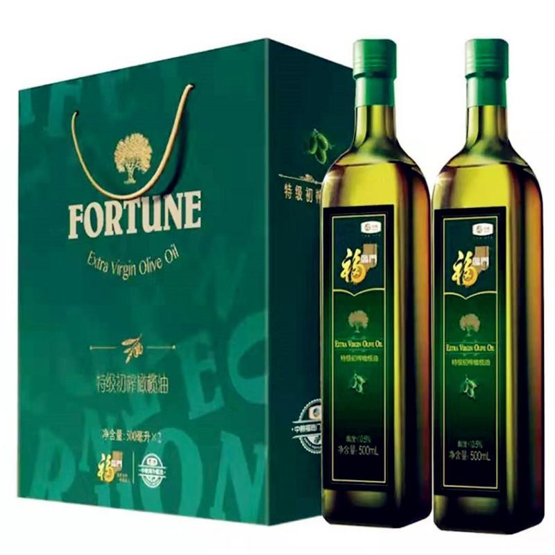 【中粮】中粮福临门特级初榨橄榄油礼盒 粮油调味食用油