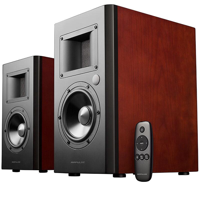 【漫步者】立体声有源书架音箱 音响 电脑音箱 电视音响 樱桃红  A200/A300