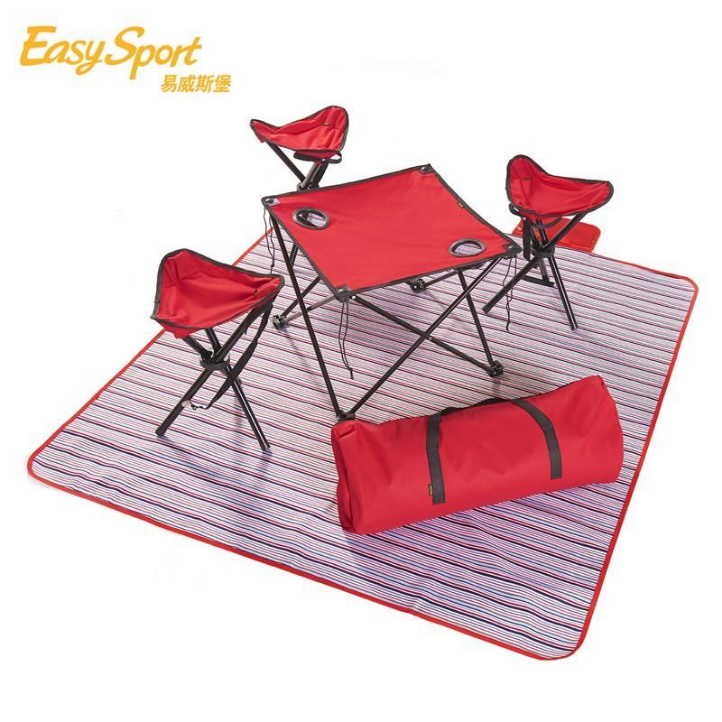 【易威斯堡】欢天席地6件套 折叠椅+折叠桌+贵族野餐垫+收纳包 ES-OD601