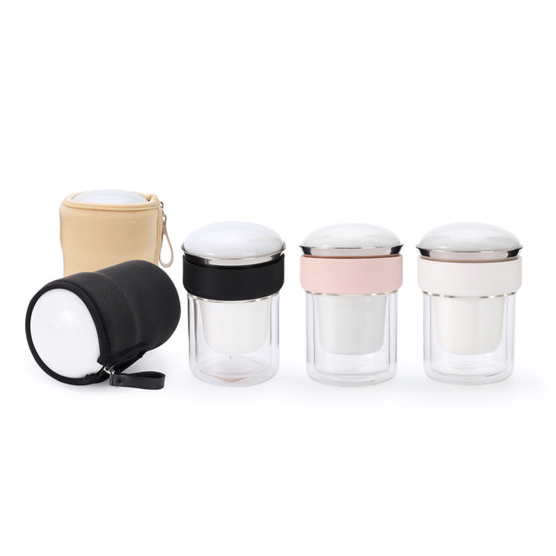 【原初格物】一壶两杯一茶叶罐 快客杯 创意收纳设计便携旅行茶具 潜水布版/PU版  TST3098/TST3099/TST3100/TST3116