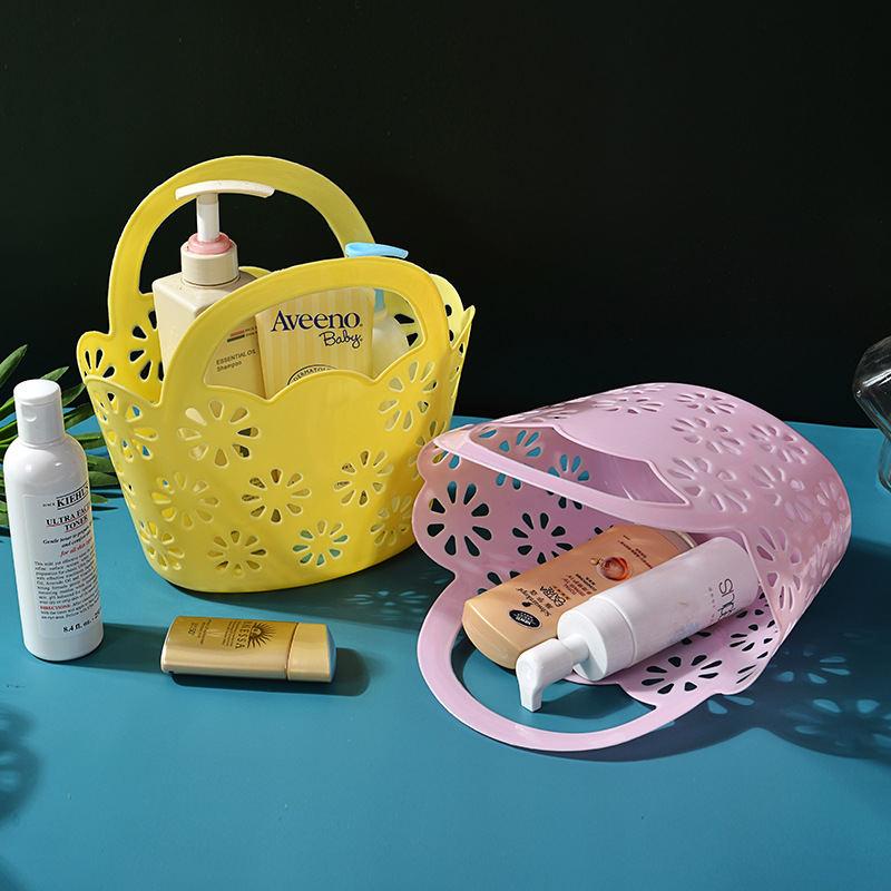 梅花篮 提手菜篮 社区卫生院塑料篮  沥水手提篮