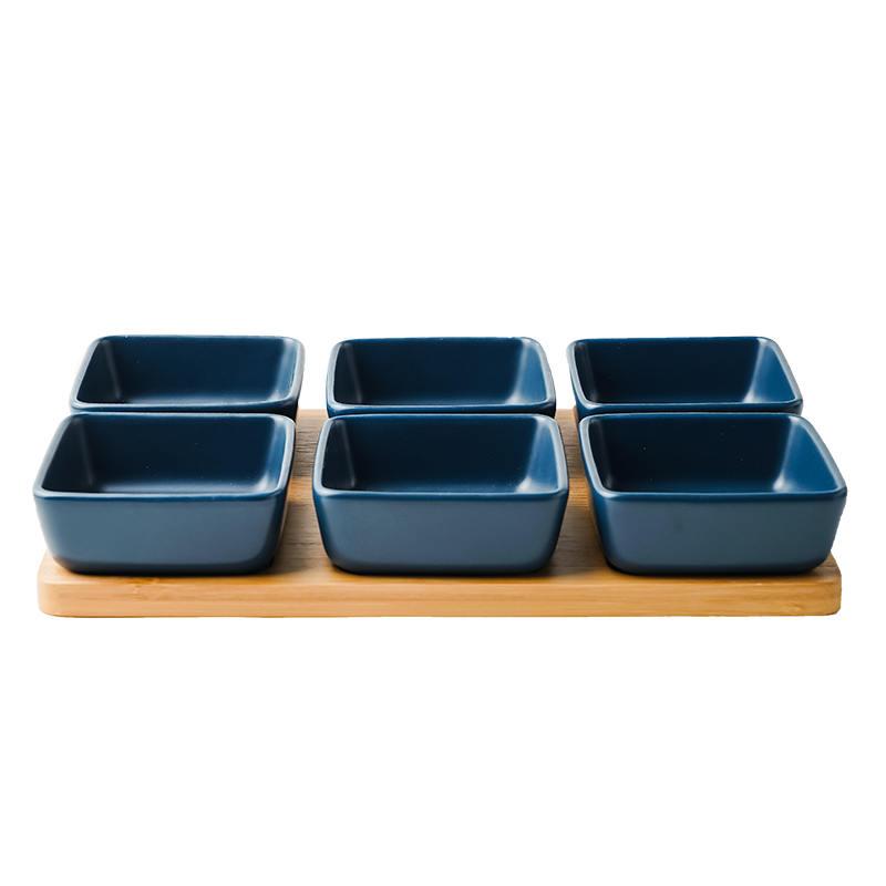 零食盘 日式陶瓷分格零食盘托盘家用坚果水果拼盘小吃带点心干果盘酱料碟