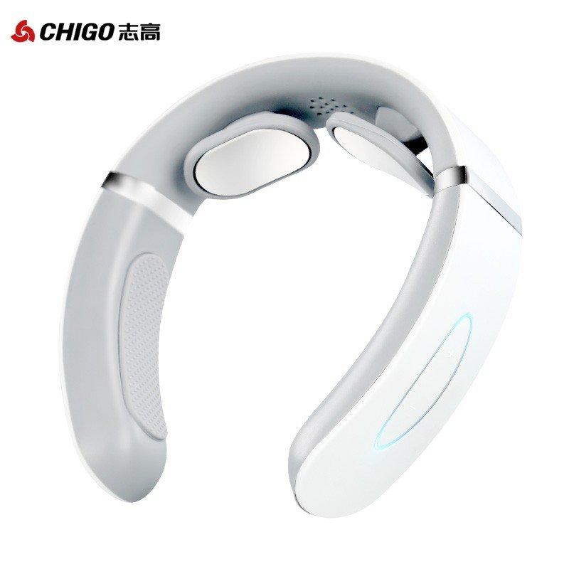 【志高】 颈椎按摩器 肩颈按摩仪 脉冲热敷肩颈仪 U型按摩枕 便携语音  ZG-AM109