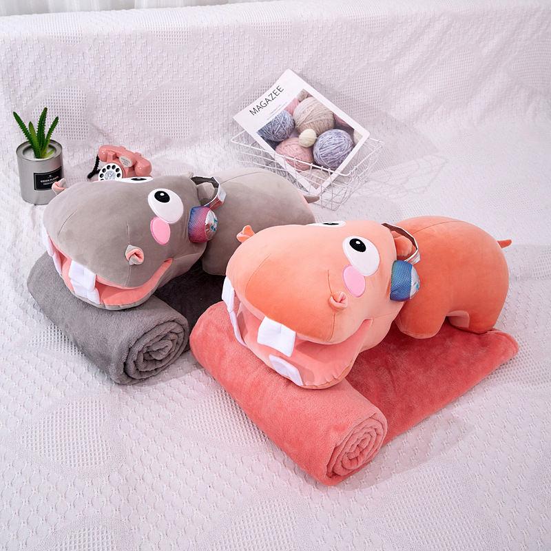 毛绒抱枕毯二合一公仔枕头 柔软舒适办公室空调午睡毯
