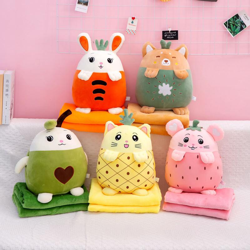 空调被手暖抱枕暖手捂秋冬新款卡通靠枕暖手多功能抱枕毯