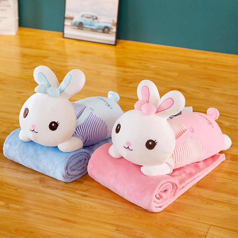 卡通抱枕被多功能空调毯子抱枕两用