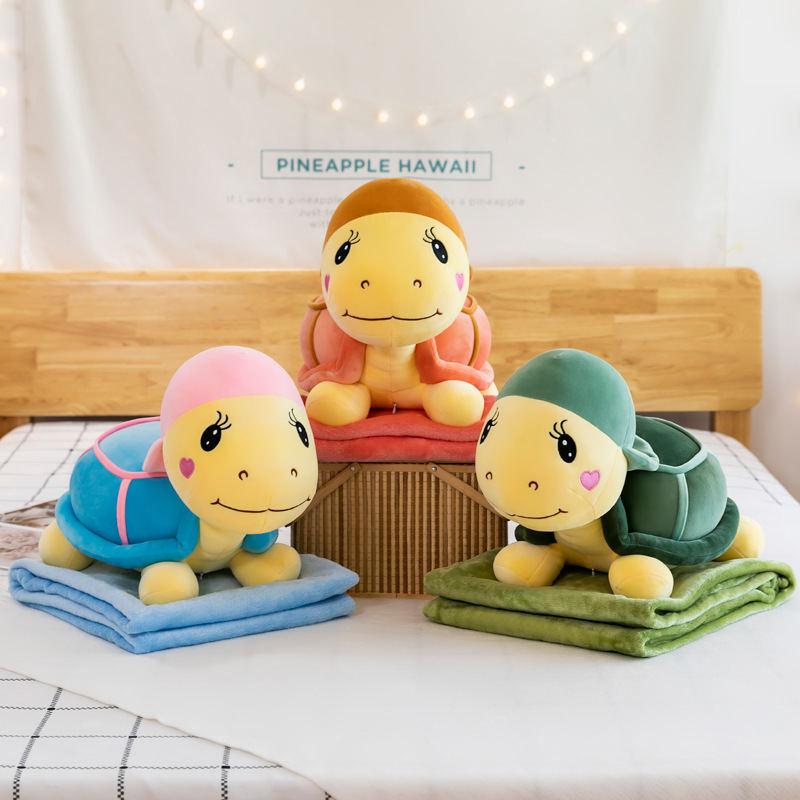 毛绒玩具公仔布娃娃儿童二合一空调被通午睡枕