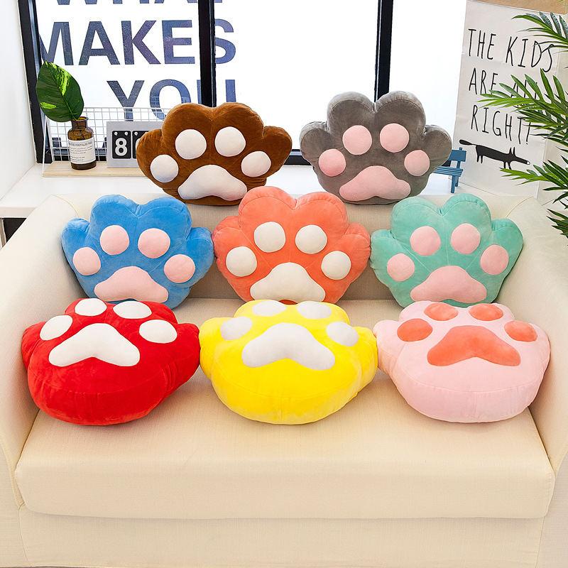 卡通猫爪抱枕被可爱猫咪手掌空调被午休靠垫