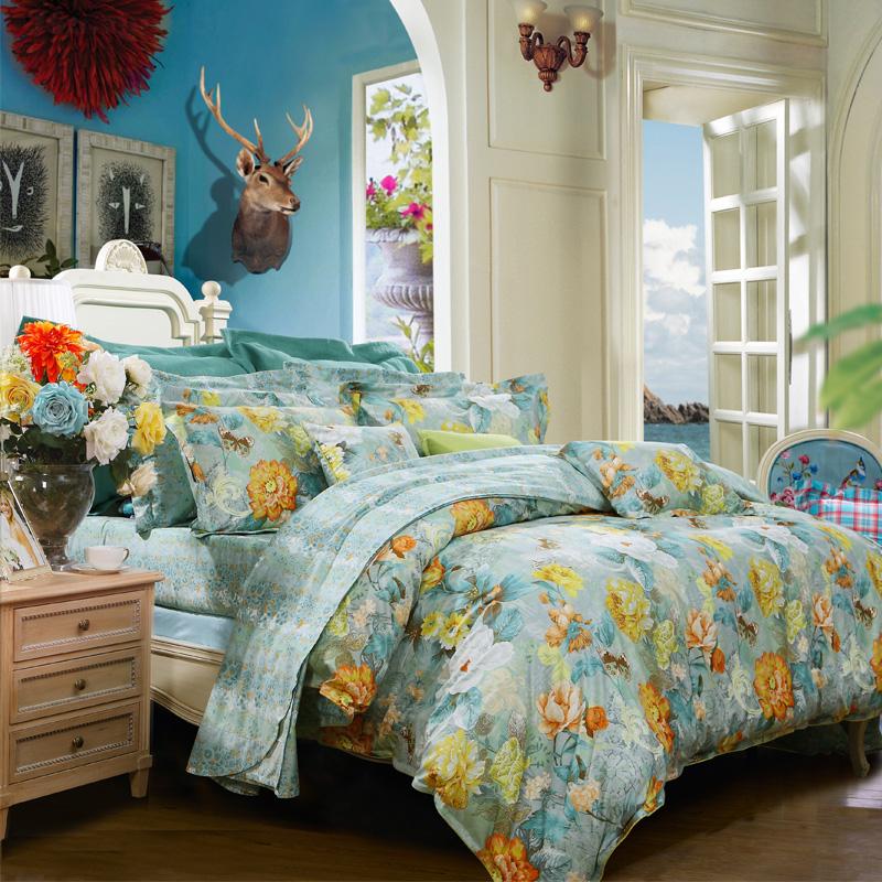 【富安娜】床单四件套 宛若清风家用床上用品床单被套枕套