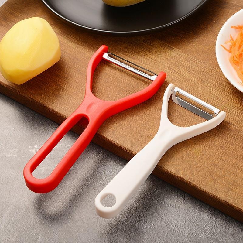 【四喜悠品】厨房蔬果刀具两件套 削皮刨丝多功能组合套件 ST-110