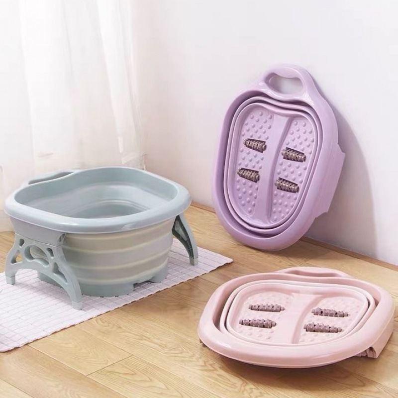 素色折叠泡脚盆按摩桶足浴盆足浴桶XR-002