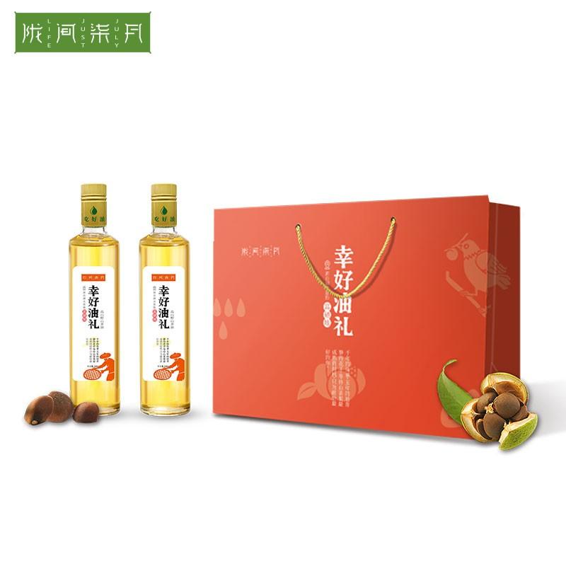 【陇间柒月】 纯山茶油双支礼盒装500ml×2纯山茶油双支礼盒Z065