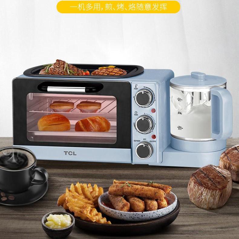 【TCL】得心三合一早餐机烤箱一机多用早餐机TKX-JA1409