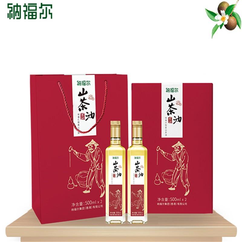 【纳福尔】山茶油佳节礼盒 山茶油 茶籽油 调和油 礼盒装植物油