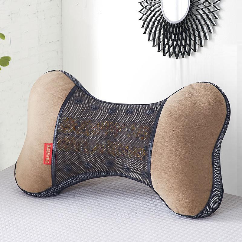 琥珀磁疗护椎宝 磁石按摩颈椎穴位靠枕