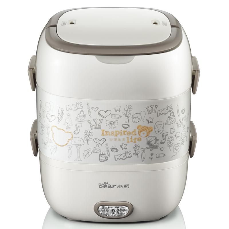 【小熊】(Bear) 双层蒸煮电热饭盒 加热保温饭盒 2L DFH-S2017