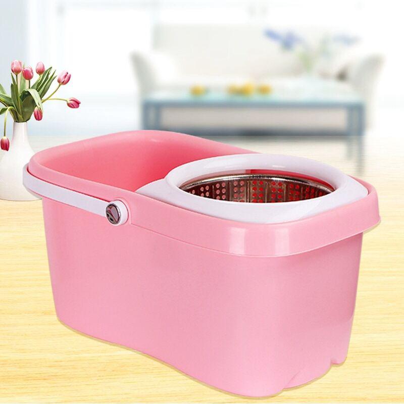 免手洗旋转拖把桶半自动免手洗不锈钢拖把桶套装