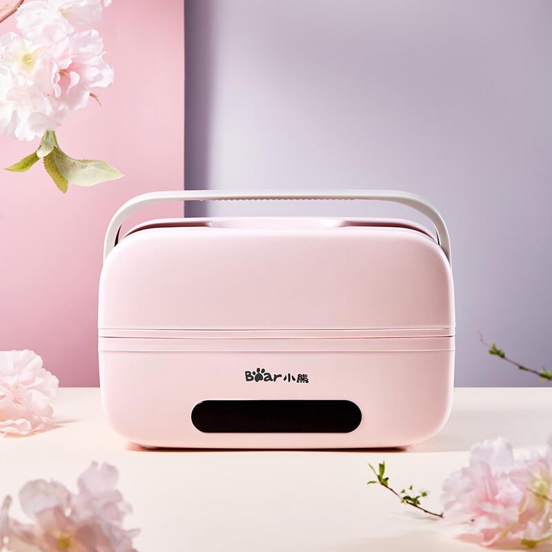 【小熊】电热饭盒双层不锈钢保温加热煮蒸饭便当盒 DFH-B10T6