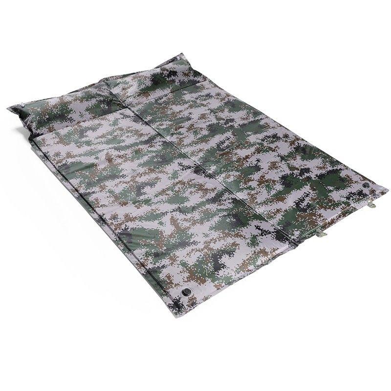【汉乐美途】自动双人充气垫户外防潮垫帐篷睡垫双人加厚款充气垫可拼接HL-0506迷彩色