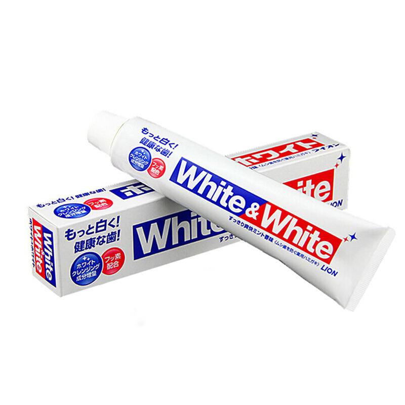 【狮王】 美白牙膏White&White大白牙膏美白牙齿150g 一支装