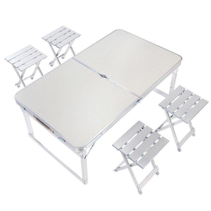 【汉乐美途】铝合金折叠桌椅套装HL-0210