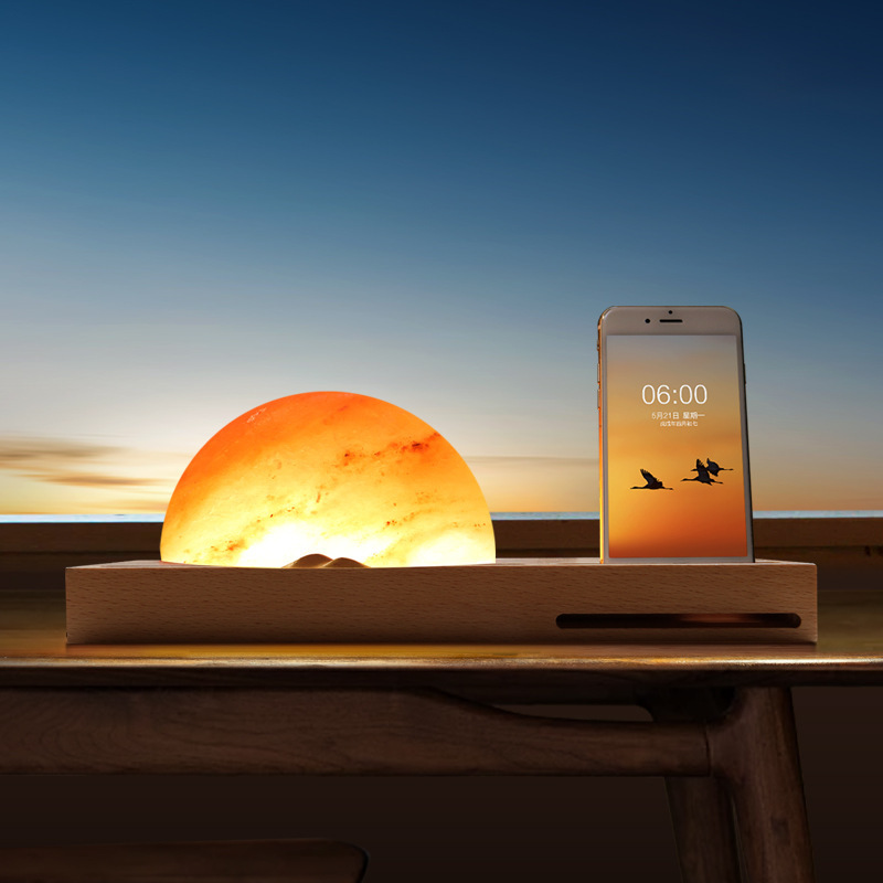 【颐电】日出东方无线充情景氛围灯 家用无线充桌面灯 AD-8923