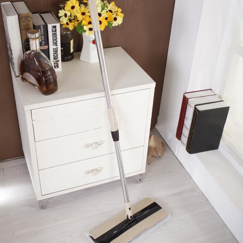 诺朗 不锈钢平板拖把木地板家用超大加班尘推墩布PT169/PT106