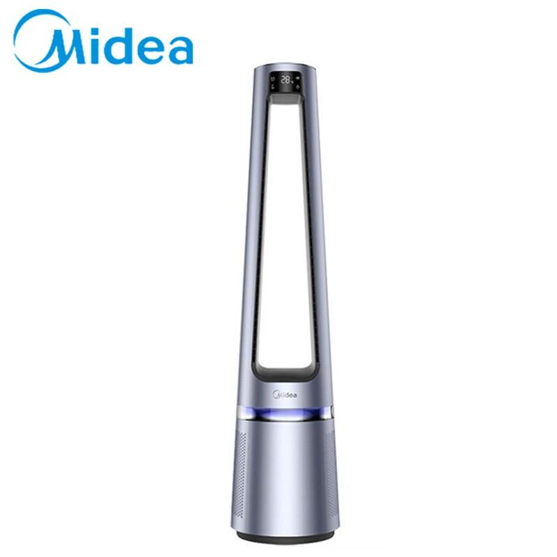 【美的】无叶风扇智能温感空气净化扇远程送风扇轻音塔扇遥控定时AMS150-CJ