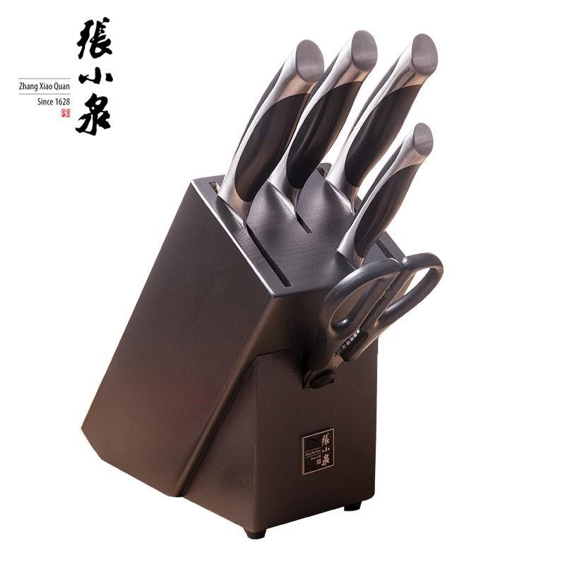 【张小泉】 不锈钢菜刀套装启航刀具六件套D30550100 启航