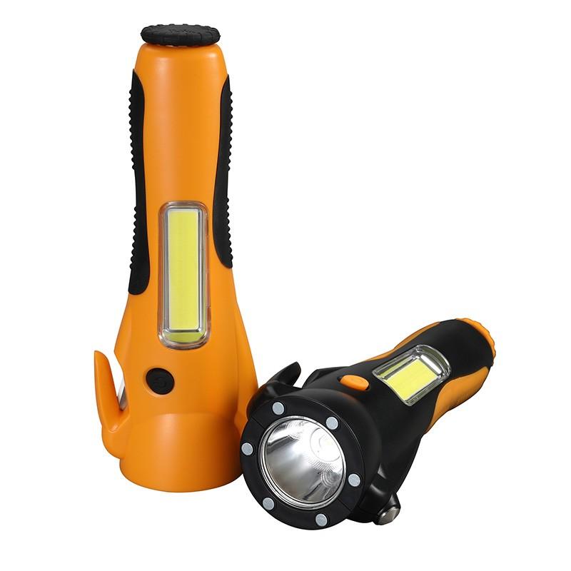 【途马】汽车六合一安全锤 车载多功能工具警示灯安全带割刀手电F970