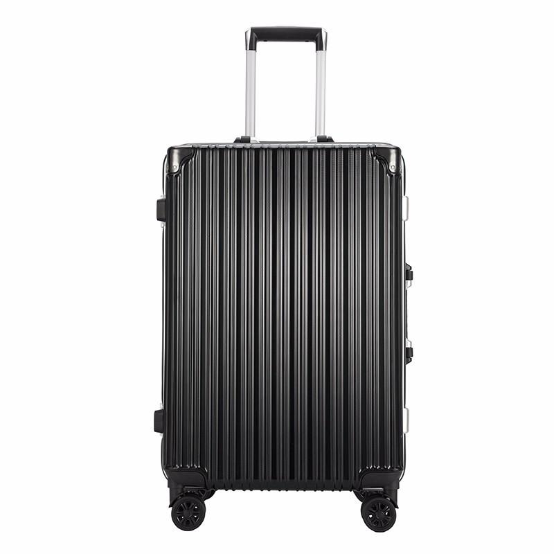 【恒源祥】条纹铝框拉杆箱旅行箱 26寸 HYX8045