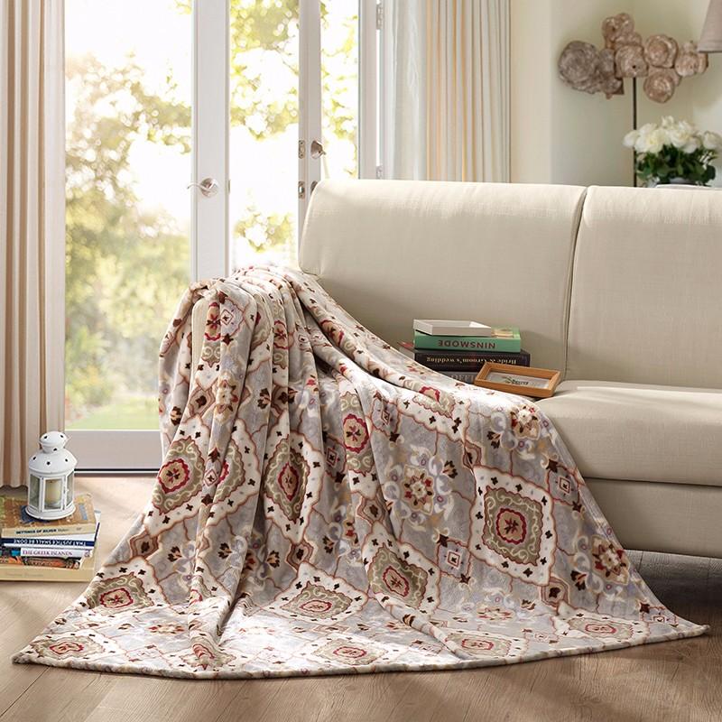 【罗莱家纺】LOVO 加州风情毯 手感柔滑柔软亲肤 VBC1803-1  180x200(cm)