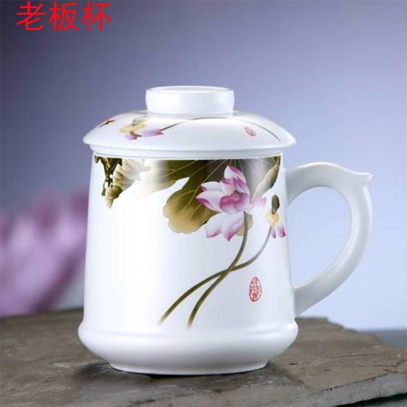 【颐和源】和衷共济粉彩哑光老板杯YHY-YG0013A/青花哑光老板杯YHY-YG0012A/哑光台面杯三件套YHY-YH001A