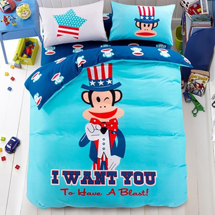 【大嘴猴】被套床单枕套纯棉四件套家纺床上用品PF0016TJ