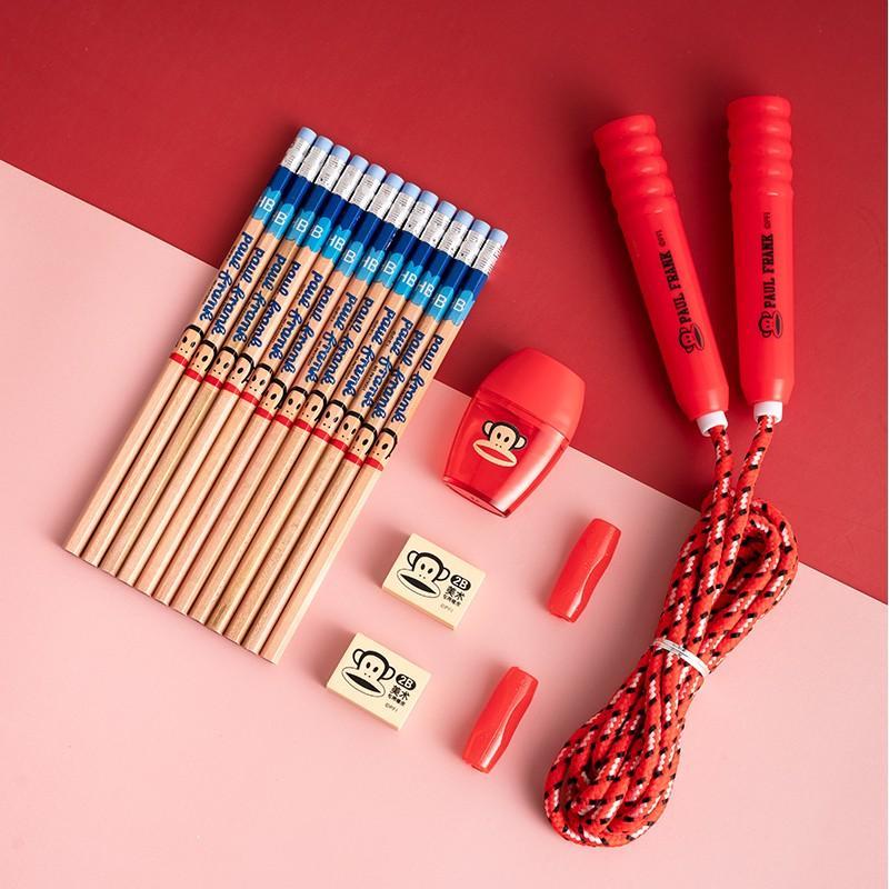 【大嘴猴】(Paul Frank)文具套装铅笔跳绳橡皮削笔器组合PFS025