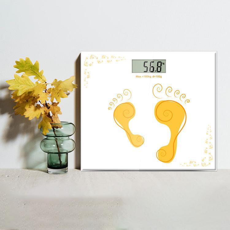 【凯立】迷你家用卡通彩色玻璃人体电子秤便携式体重礼品秤CB501L-S1