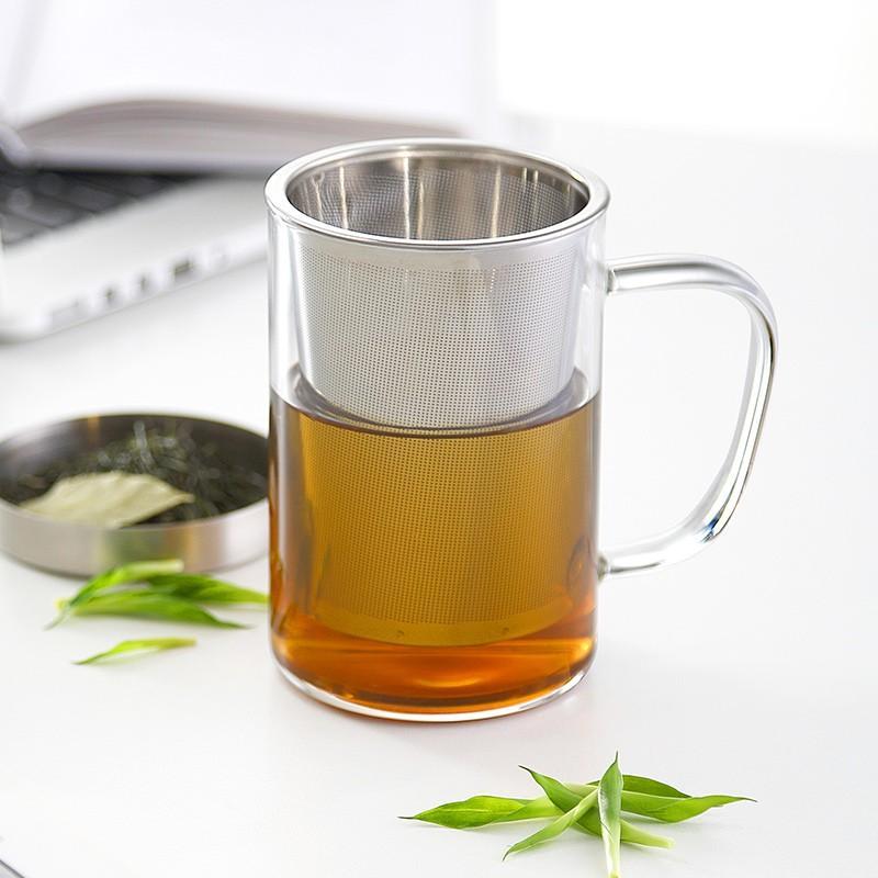【博堡】 奥斯玻璃泡茶杯时尚外观手感细腻光滑BASB-400