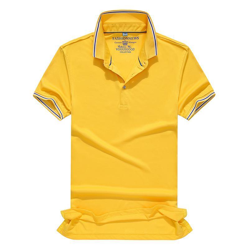 冠标翻领短袖polo文化衫短袖t恤班服工作服HM-0113