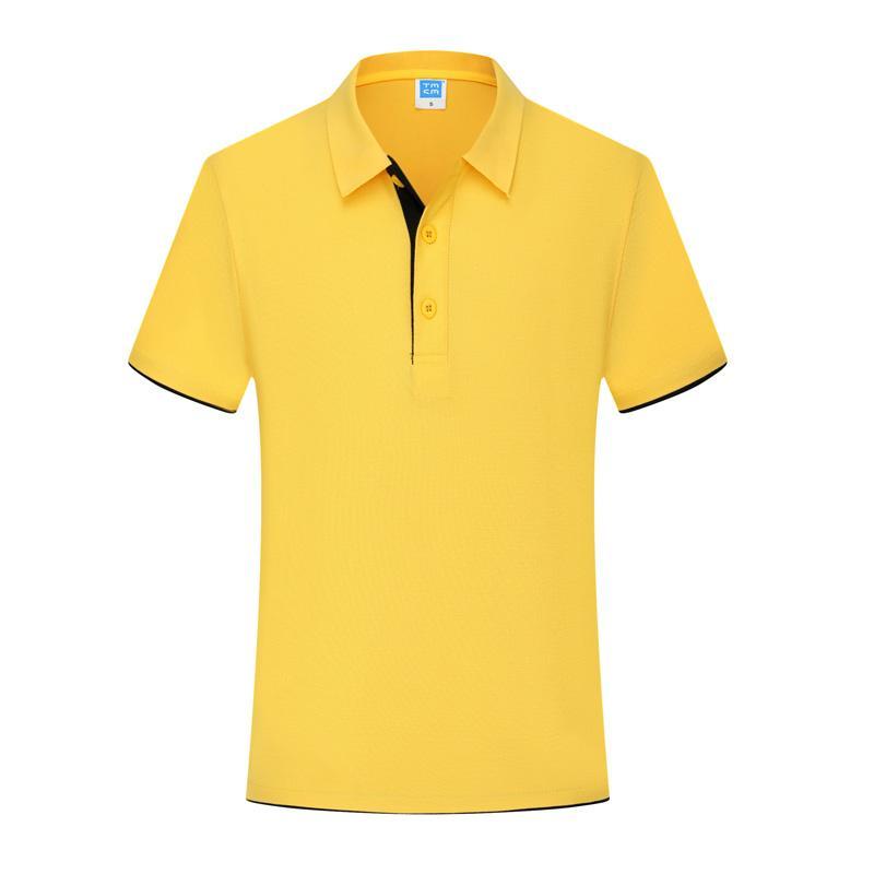 双下摆纯色短袖翻领T恤POLO衫工作衣服广告衫文化衫HM-0119