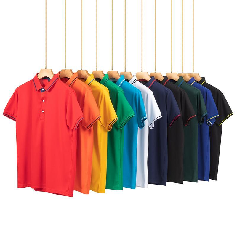 经典短袖翻领T恤POLO衫工作衣服广告衫文化衫HM-1878