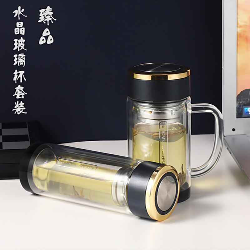 【斯密欧】臻品水晶玻璃直杯高硼硅玻璃茶杯水杯MT075/MR074-280