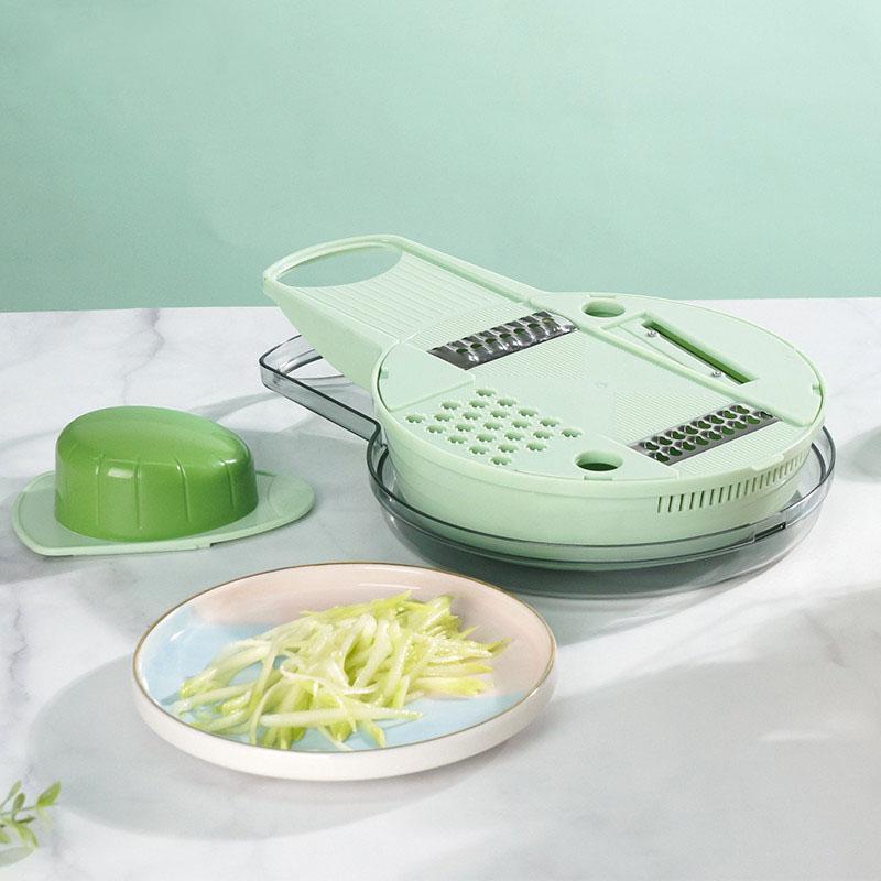 【幸福妈咪】创意款厨房用品刨刀圆形不锈钢刨刀切丝切片刨丝器 多功能刨刀 B479-C